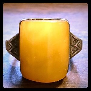 Jewelry - Vintage Baltic Amber Sterling Ring 7.5
